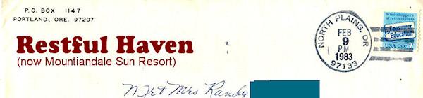 Restful Haven envelope