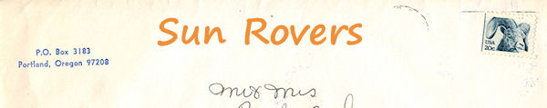 Sun Rovers envelope